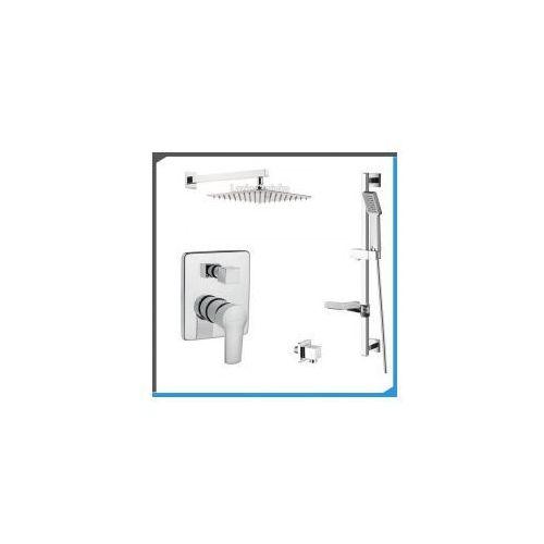 Zestawy Podtynkowy zestaw prysznicowy z invena verso bp-82-0k2, chrom zest112