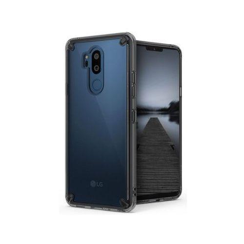Etui Ringke Fusion LG G7 ThinQ Smoke Black + Szkło - Czarny