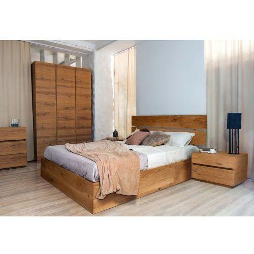 Łóżko dębowe z pojemnikiem na pościel classica 2 marki Konar meble kolbudy