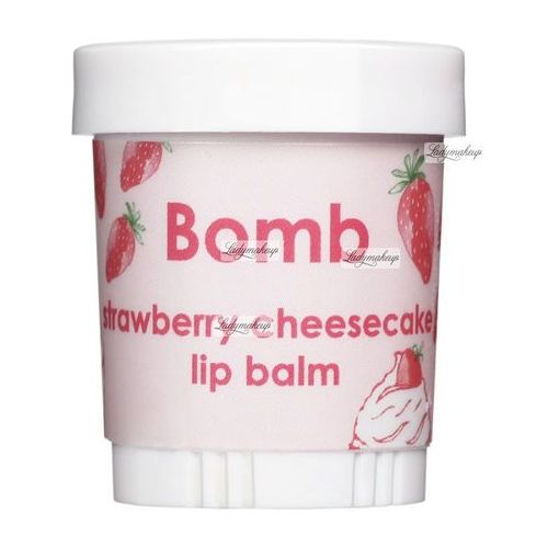 Bomb cosmetics strawberry cheesecake | balsam do ust sernik truskawkowy 9ml (5037028262061)