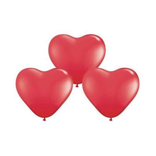 Baloniki czerwone serca - 29 cm - 50 szt. marki Go