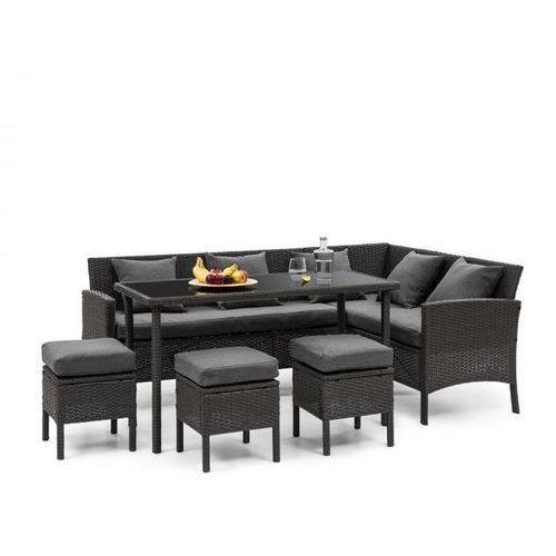 Blumfeldt titania dining lounge set komplet mebli ogrodowych, czarny/ciemnoszary (4060656193873)