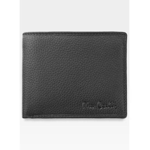 Mały i cienki portfel męski czarny skórzany lucas03 8824 - czarny marki Pierre cardin