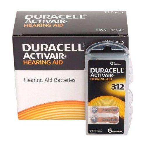 120 x baterie do aparatów słuchowych Duracell ActivAir 312 MF, DURAACTI312