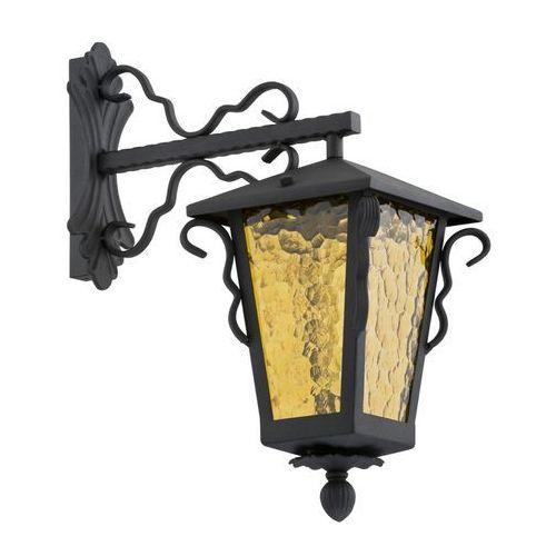 Kinkiet Argon Sandomierz 3278 lampa oprawa ścienna zewnętrzna 1X60W E27 IP44 czarny / miodowy, 3278