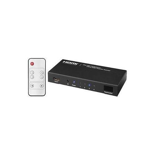 Monacor HDMS-4012, 4-kanałowy przełącznik hdmi™