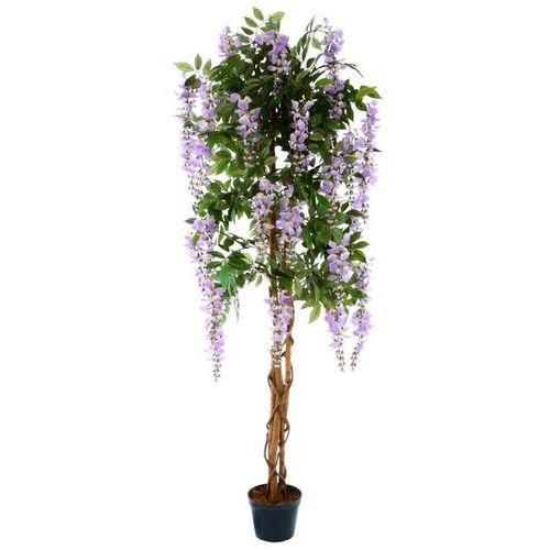 Greentree Sztuczne drzewo glicynia fioletowa 160 cm kwiat - OKAZJE