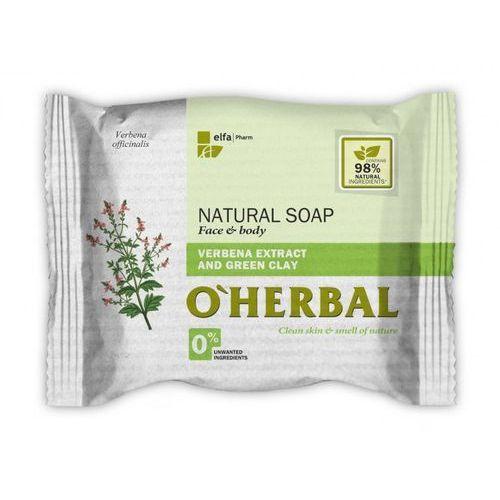 O'herbal - naturalne mydło z ekstraktem z werbeny i zieloną glinką 100g marki Elfa pharm