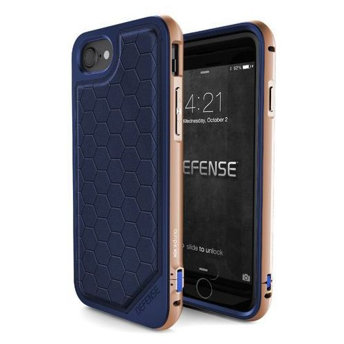 X-Doria Defense Lux - Aluminiowe etui iPhone 7 (Blue/Gold), 449366