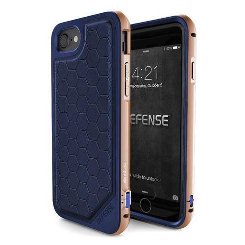 X-Doria Defense Lux - Aluminiowe etui iPhone 7 (Blue/Gold), kolor niebieski