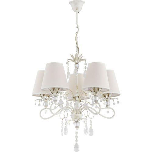 Lampa wisząca zwis żyrandol Alfa Lukrecja 5x40W E14 biały, złoty, ecri 21065 >>> RABATUJEMY do 20% KAŻDE zamówienie!!!