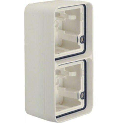 BERKER W.1 Puszka natynkowa 2-krotna pionowa 2 wejścia IP55 biały 6719333502 (4011334390107)