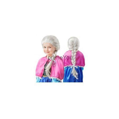 Peruka Śnieżna Królowa, z warkoczem 40 cm - produkt z kategorii- Gadżety