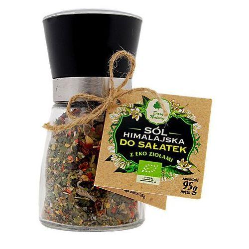 Dary natury - przyprawy i zioła bio Sól himalajska w młynku z ziołami bio do sałatek 95 g - dary natury (5902741003638)