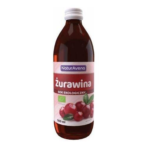 500ml sok z żurawiny bez cukru bio marki Bioavena