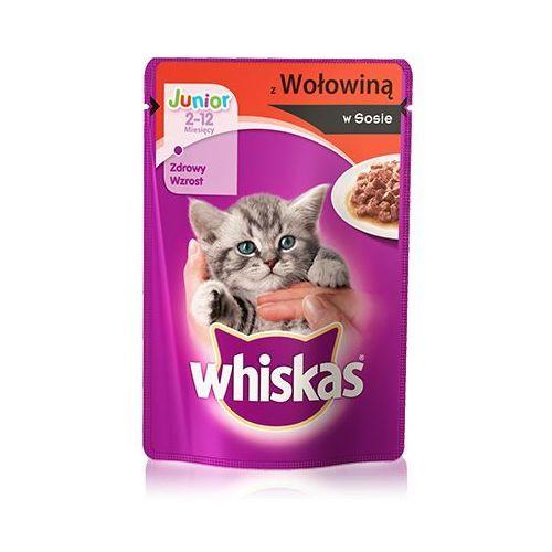 Whiskas junior wołowina w sosie 100 g x 18 + 6 gratis - darmowa dostawa od 95 zł! (5900951253591)