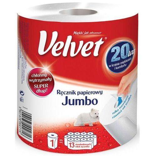 Ręcznik w roli celulozowy jumbo 2-warstwowy 500 listków biały marki Velvet