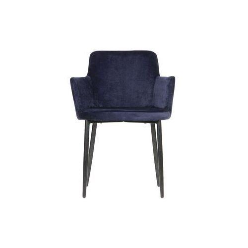 Woood Krzeslo Tatum velvet niebieskie 373794-B, kolor niebieski