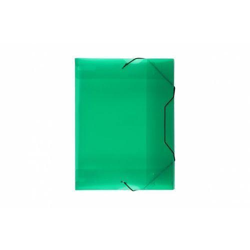 Teczka skrzydłowa z gumką Biurfol TG-13-02 transparentna zielona