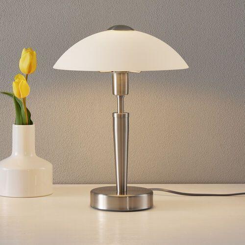 EGLO 85104 - Lampa stołowa SOLO 1 1xE14/60W matowy nikiel/satyna