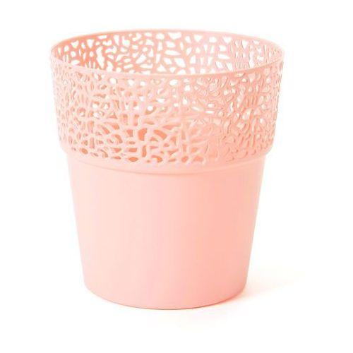 Osłonka na doniczkę 14.5 cm plastikowa kremowa rosa marki Lamela