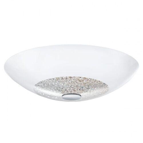 Plafon LAMPA sufitowa ELLERA 92712 Eglo szklana OPRAWA z kryształkami IP20 okrągła biała, kolor Biały