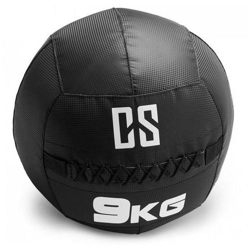 Bravor piłka lekarska wall ball pcv podwójne szwy 9kg czarna marki Capital sports