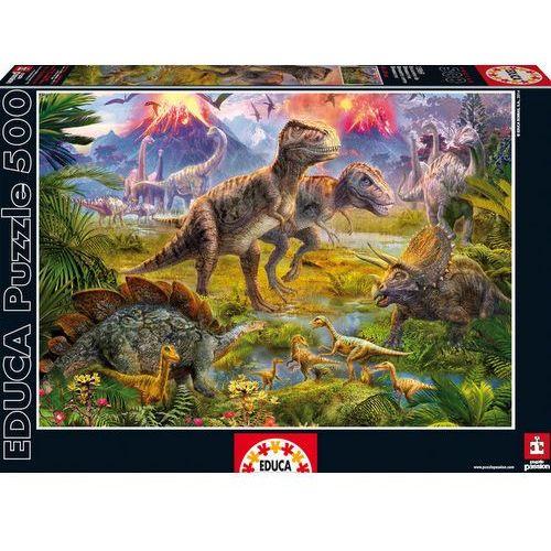 Puzzle 500 elementów, spotkanie dinozaurów - darmowa dostawa od 199 zł!!! marki Educa