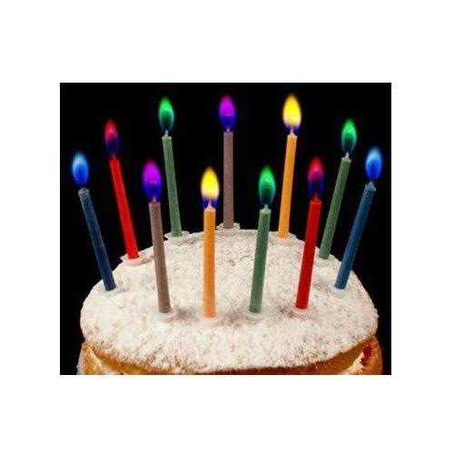 Kolorowe świeczki z kolorowymi płomieniami - 6 szt. marki Dp