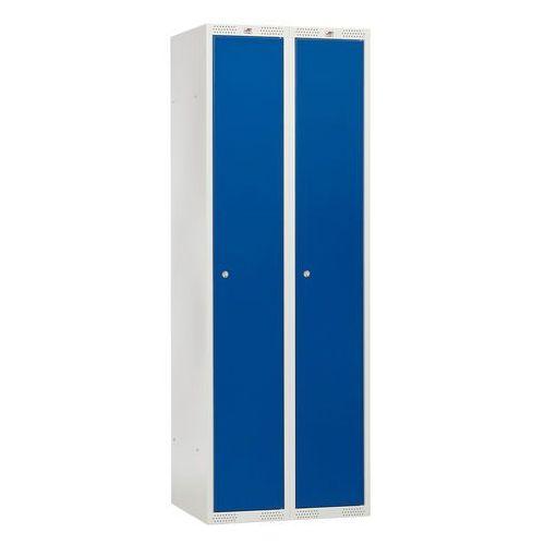 Szafka do przebieralni - 2 sekcje 550x1740x600- kolor drzwi: niebieski