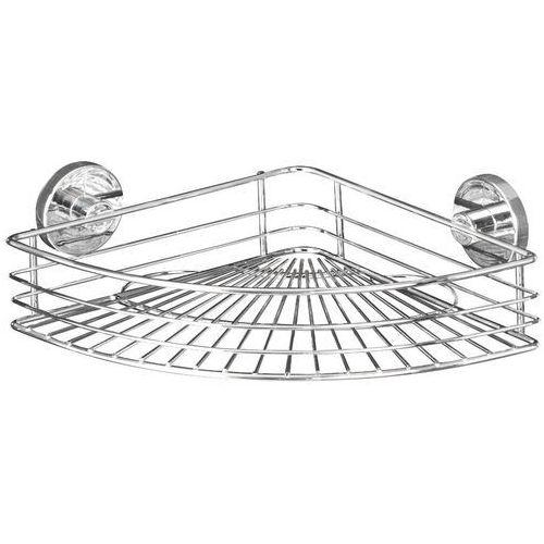 Narożna półka łazienkowa BARI, Vacuum-Loc - stal chromowana, WENKO