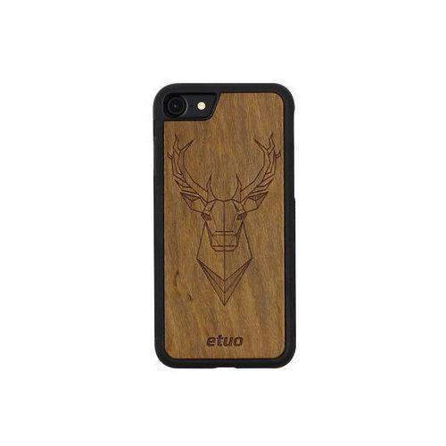 Apple iphone 8 - etui na telefon wood case - jeleń - imbuia marki Etuo wood case
