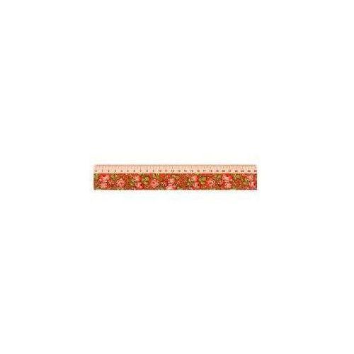 Folkstar Linijka drewniana 25 cm góralska czerwona (5901845113649)