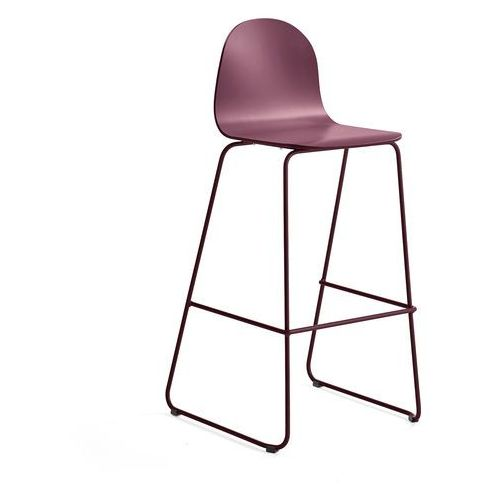 Aj produkty Krzesło barowe gander, płozy, siedzisko 790 mm, lakierowany, ciemnoczerwony