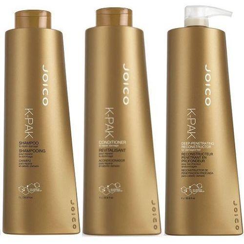 Joico  k-pak - zestaw regenerujący: szampon + odżywka + rekonstruktor 3x1000ml (9753197531509)