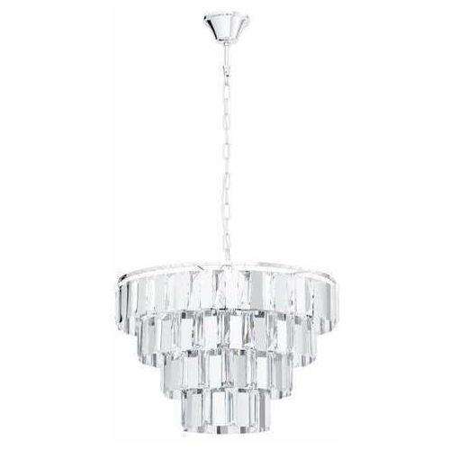 erseka 99094 lampa wisząca zwis 7x40w e14 chrom/transparentna marki Eglo