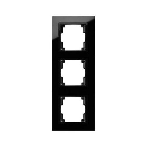 Ramka potrójna Elektro-Plast Volante szklana czarna