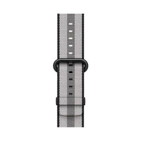 Pasek do smartwatcha APPLE Watch z plecionego nylonu w kolorze czarnym (w prążki) do koperty 38 mm MQVG2ZM/A