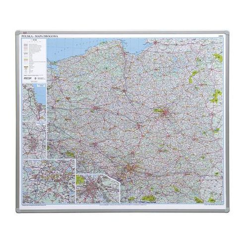 tablica mapa Polski drogowa (pinezki)