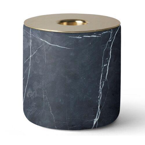 Menu Świecznik marmurowy chunk of marble l black&brass