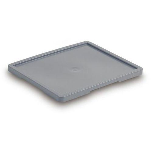 Pokrywa, do skrzynek o rozmiarze zewn. dł. x szer. 525x455 mm, szary.