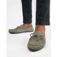 KG By Kurt Geiger Wide Fit Driving Shoes In Grey Suede - Grey