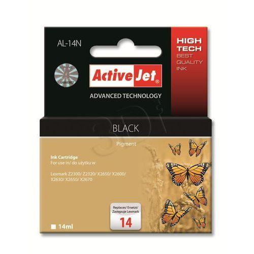 Tusz al-14n czarny do drukarek lexmark (zamiennik lexmark 18c2090e / lexmark 14) marki Activejet