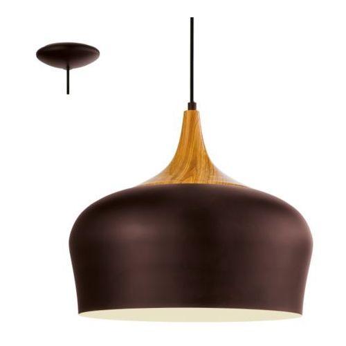 Lampa wisząca obregon brązowa, 95385 marki Eglo