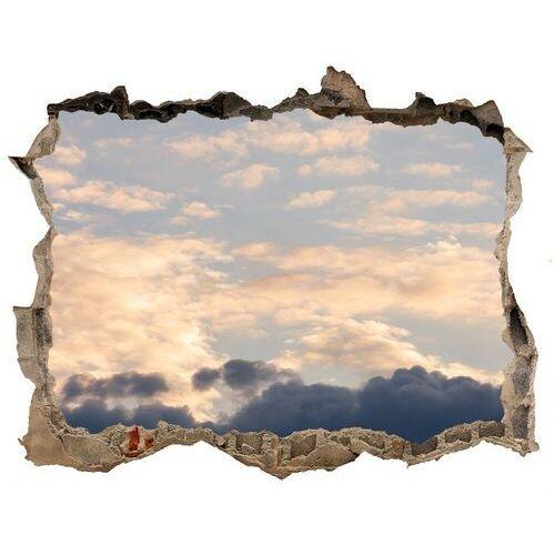 Wallmuralia.pl Dziura 3d w ścianie naklejka chmury na niebie