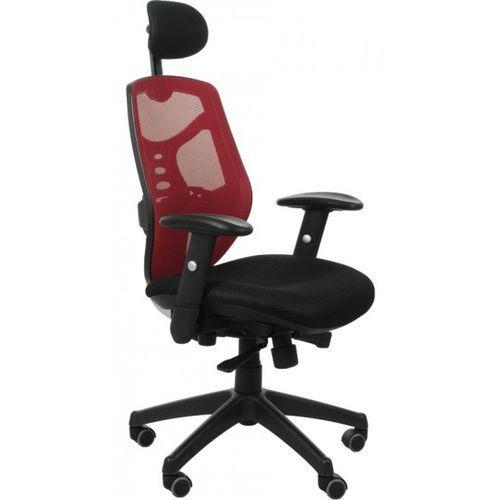 Fotel biurowy gabinetowy KB-8905/CZERWONY - krzesło obrotowe, KB-8905/CZERWONY (malinowy)