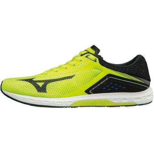 wave sonic buty do biegania mężczyźni żółty/czarny uk 9,5   eu 44 2018 buty szosowe marki Mizuno