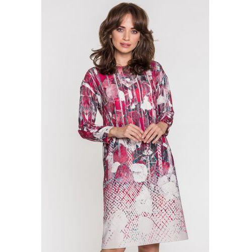 Sukienka ze zdobionym dekoltem - Potis & Verso, 1 rozmiar