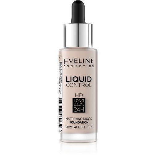 Eveline Liquid Control HD Podkład do twarzy z dropperem nr 005 Ivory 32ml, 5901761961850