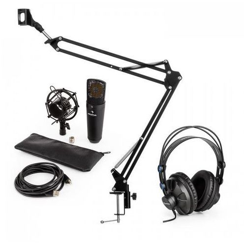 Elektronik-star Auna mic-920b usb v3 zestaw mikrofonowy słuchawki studyjne mikrofon pojemnościowy ramię sterujące do mikrofonu